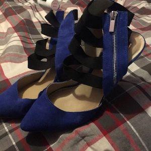 Blue Suede Heels